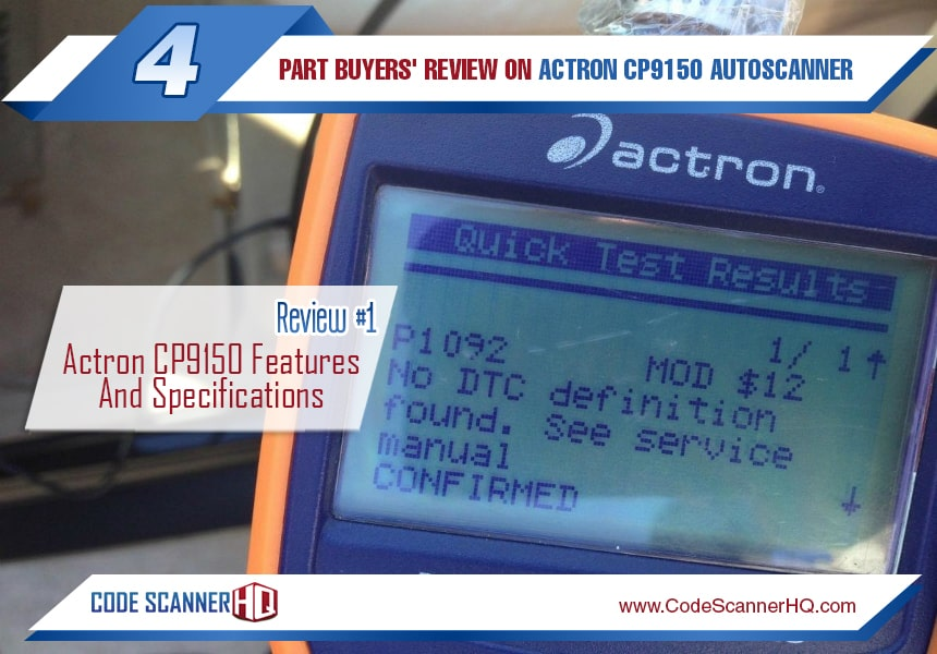 actron cp9150 product review